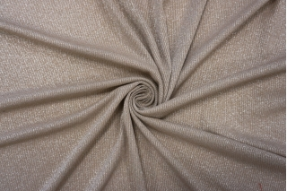 Трикотаж-лапша с люрексом серо-бежевая NST-D4 22062056