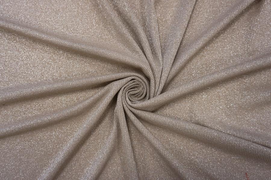 Трикотаж-лапша с люрексом серо-бежевая NST-N2 22062056