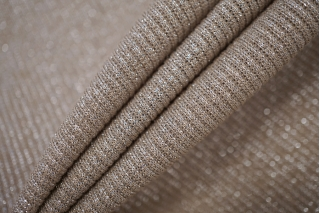 Трикотаж-лапша с люрексом серо-бежевая NST-W4 22062056