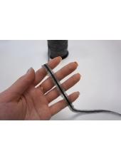 Лента нитепрошивная по косой с сутажем серо-черная 10 мм Kufner KFN 27082024