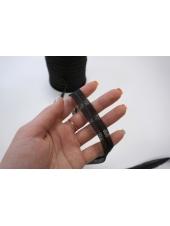Лента нитепрошивная по косой с сутажем черная 15 мм Kufner KFN 27082026