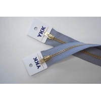 Молния джинсовая неразъемная цвет светло-серый 272 16 см YKK SK 42351-272