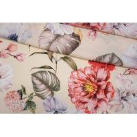 Штапель цветы на кремовом фоне D&G DRT-H4 28082004
