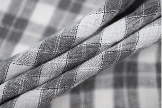 Плательный лен серый в клетку Max Mara DRT -E6 31072004
