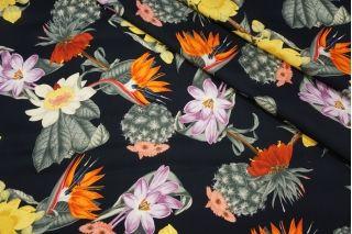 Блузочный сатин кактусы и цветы Blumarine DRT-H5 31072012