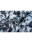 Деворе черно-голубые цветы DRT-H3 31072015