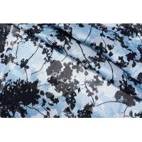 ОТРЕЗ 2,55 М Деворе черно-голубые цветы DRT-(33)- 31072015-1