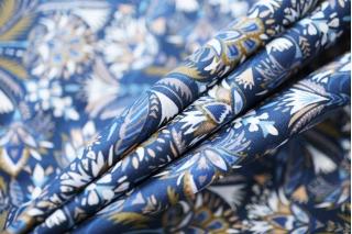 Поплин рубашечный цветочный DRT -E3 31072016
