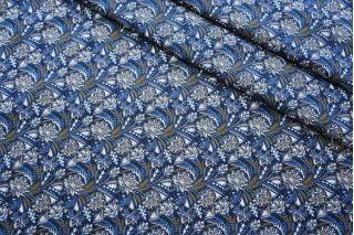 ОТРЕЗ 1,45 М Поплин рубашечный цветочный DRT -(43)- 31072016-2
