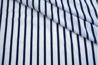 Креповая вискоза Max Mara в полоску бело-синяя DRT -i7 31072021