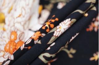 Штапель цветы на черном Gucci DRT -H4 31072028