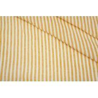 Плательный лен в полоску оранжево-белый Max Mara DRT -E5 31072029