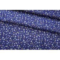 ОТРЕЗ 1,45 М Хлопок органический цветы на синем CMF -(30)- 31072041-1