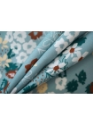 Штапель цветы на голубом DRT -H4 31072042