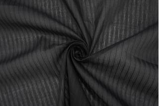 Батист Prada хлопок с шелком черный в полоску SMF -E3 31072045