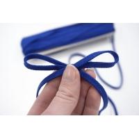 Плоский шнур хлопковый синий 6 мм PRT 01062022
