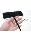 Плоский шнур хлопковый черный 6 мм PRT 01062024