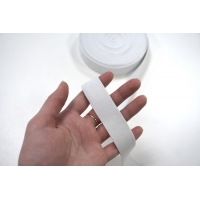 Резинка белая тканная 2,5 см ST 01062033