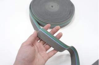 Резинка серая с полоской 3 см ST 01062037