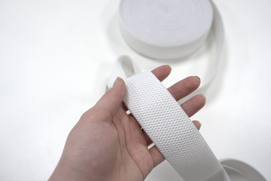 Резинка помочная белая 4 см ST 01062038