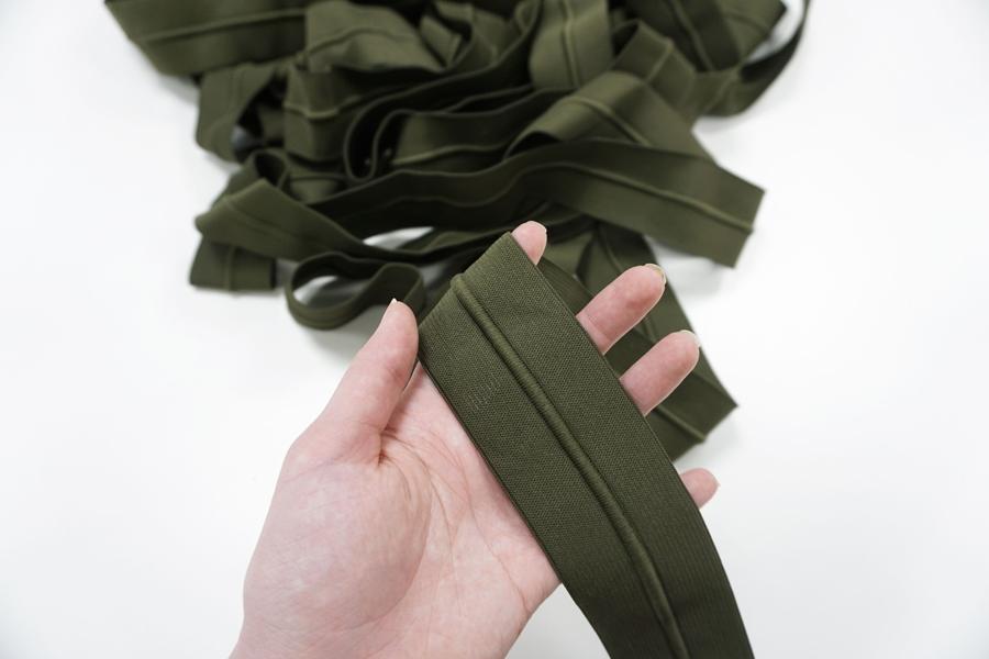 Резинка со шнуром 5 см зеленая PRT 01062040