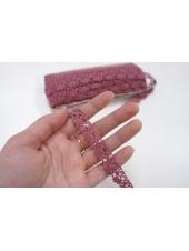 Кружево-тесьма пурпурно-розовое 15 мм ST 01062044