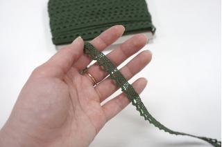 Кружево-тесьма зеленое 12 мм ST 01062045
