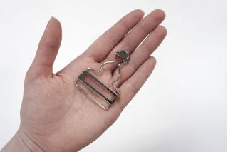 Застежка для комбинезона никель 4 см ST 01062050