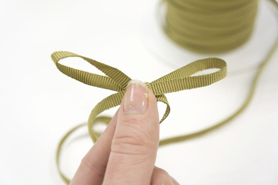 Лента репсовая золотисто-зеленая 5 мм PRT 03062006