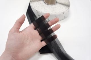Лента клеевая черная с невидимым швом 4 см PRT 04062007