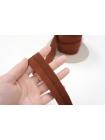 Трикотажная бейка коричневая 3 см PRT 03062004