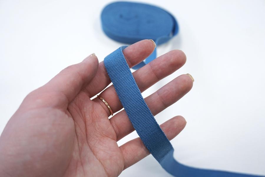 Лента репсовая приглушенно-голубая 1,5 см PRT 06062034