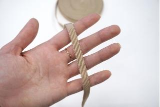 Лента репсовая песочная 1 см PRT 06062041