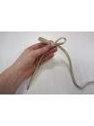 Шнурок бежево-оливковый с металлическими концевиками 120 см PRT 07022008