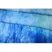 Шифон шелковый-креш деграде голубой Marc Rozier LEO-C3 26052001