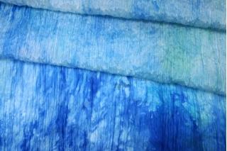 Шифон шелковый-креш деграде голубой Marc Rozier LEO-L5 26052001