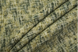 Шерсть костюмная дабл черно-зеленая TXH-E1 09102066