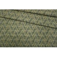 Шерсть костюмная дабл черно-зеленая TXH-D3 09102066
