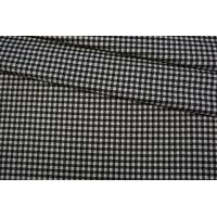 Костюмная шерсть в клетку черно-белая TRC-CC30 09102068