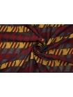 ОТРЕЗ 1 М Хлопок на капроне гусиная лапка охра-бордовый TRC-(41)- 20102024-1