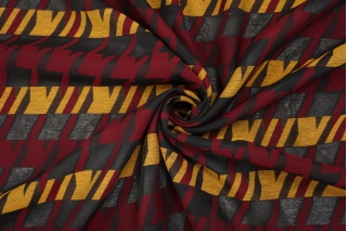 Хлопок на капроне гусиная лапка охра-бордовый TRC-G5 20102024
