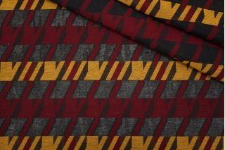 Хлопок на капроне гусиная лапка охра-бордовый TRC-F2 20102024