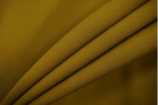 ОТРЕЗ 1,5 М Костюмно-плательная шерсть темная зеленая горчица TRC-(44)- 20102064-1