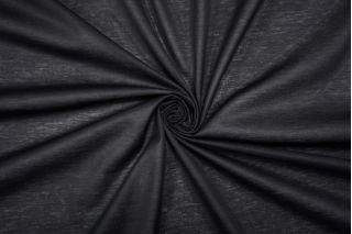 Трикотаж мерсеризованный хлопковый черный TRC-D6 20102066