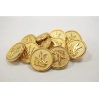 Пуговица на ножке костюмно-плательная металл золотая утка 15 мм PRT-(L)- 03092004