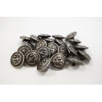 Пуговица на ножке рубашечно-плательная металл серебряный якорь 12 мм PRT-(L)- 03092005