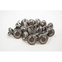 Пуговица на ножке рубашечно-плательная металл серебряный листочки 12 мм PRT-(L)- 03092006