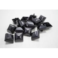 Пуговица на ножке костюмно-пальтовая металл черный никель 17х17 мм PRT-(M)-  08102004