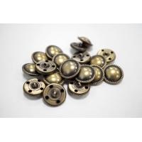 Пуговица металлическая на ножке костюмная золотистая латунь 20 мм PRT-(L)- 08102010