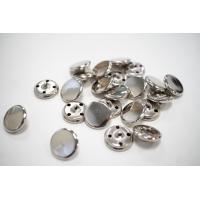 Пуговица металлическая на ножке костюмная серебряная 18 мм PRT-(L)- 08102014